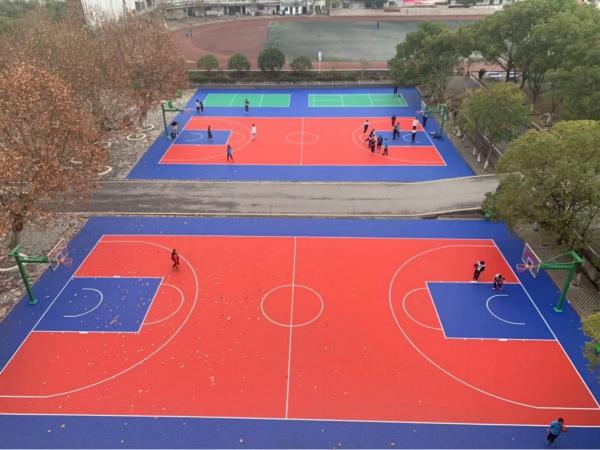 貴溪市第二中學塑膠籃球場地