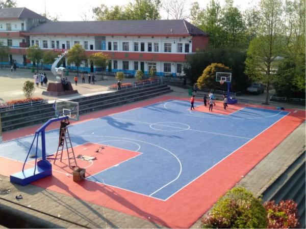 貴溪市羅河一中塑膠籃球場